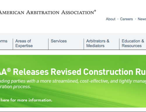 AAA – Construction Arbitration Rules