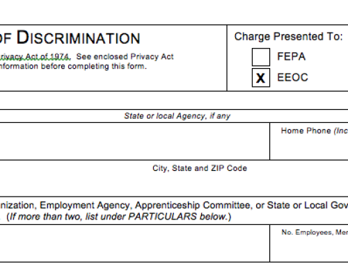 EEOC Charge of Discrimination Form
